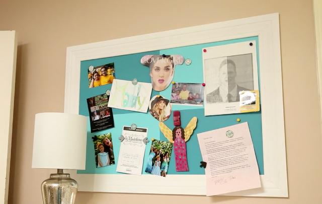 DIY wall mounted magnet board
