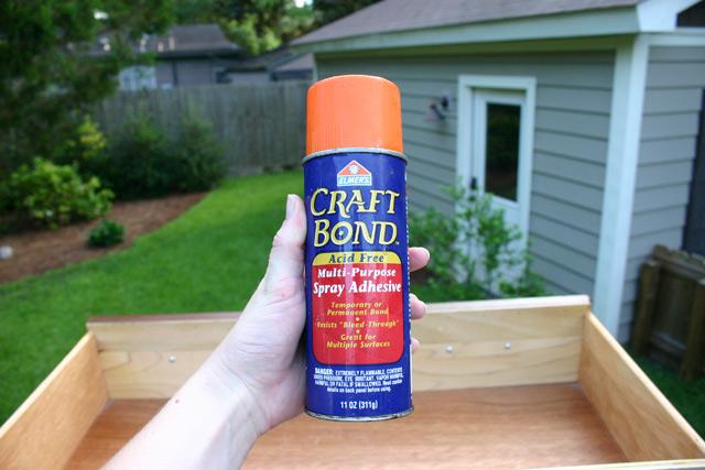 Spray Adhesive for Dresser Drawer Liner