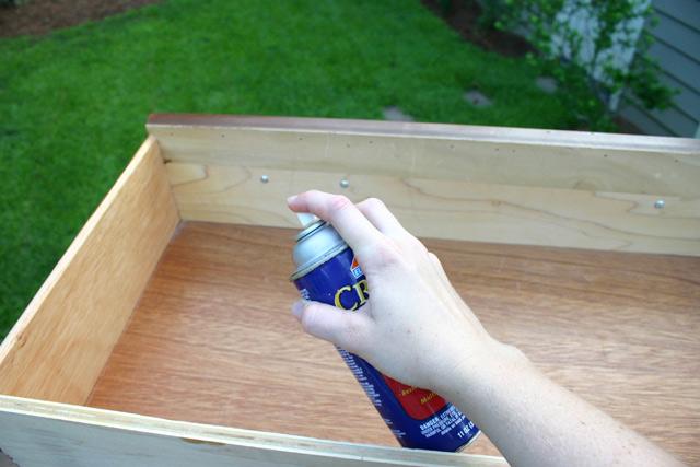 spray adhesive elmer's drawer bottom liner