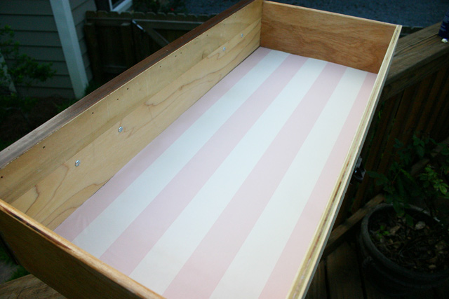 Wallpaper Drawer Liner After Spray Adhesive