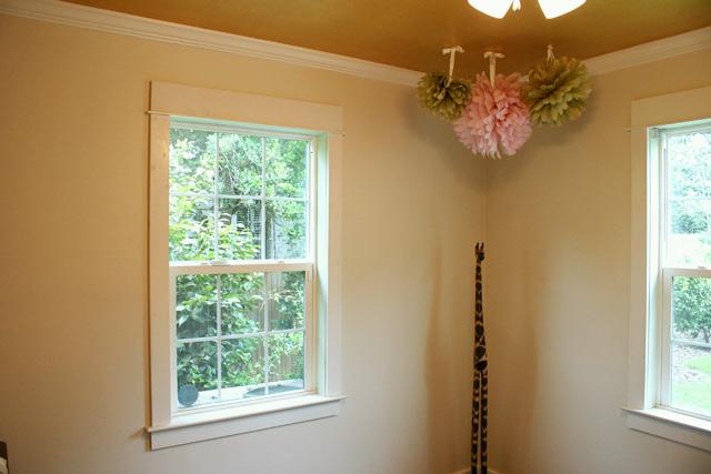 craftsman style window trim in white room