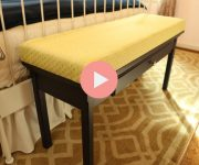 Upcycled Bed Bench from Sofa Table