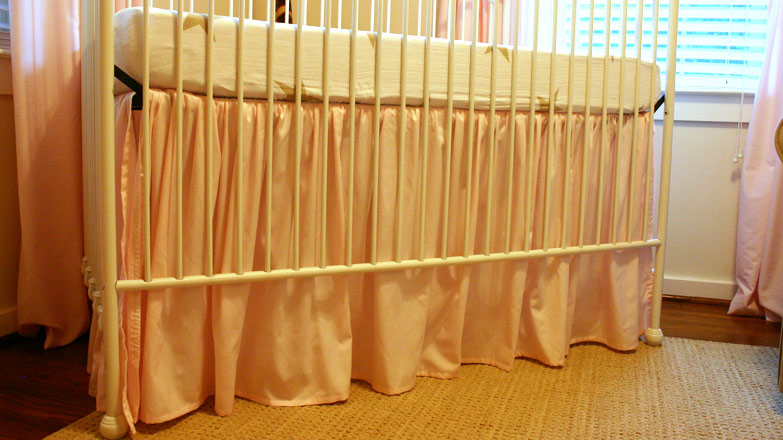 Diy Ruffled Crib Skirt From Fitted Sheet Checking In With