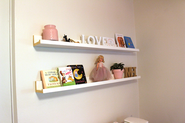 Decorated IKEA Hack Picture Ledges