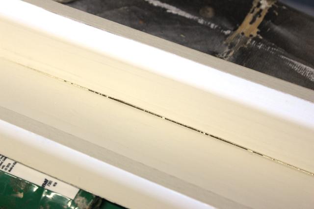 gap between wood before applying caulk