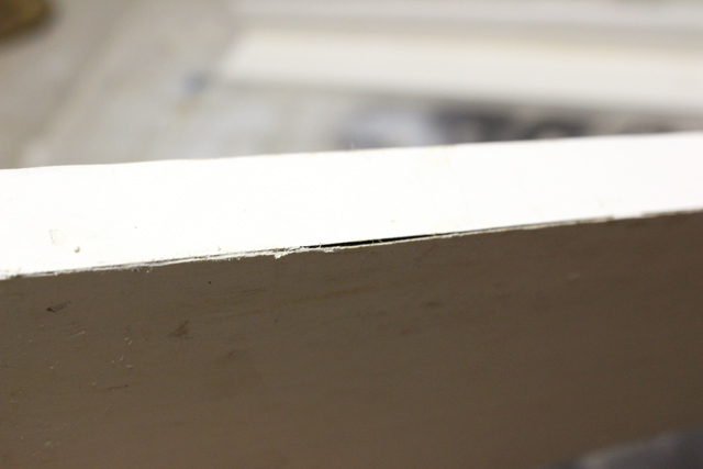 gap in ledge before putty