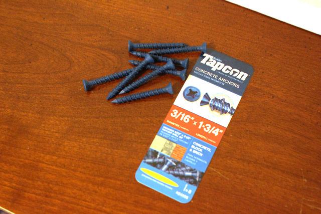 blue tapcon masonry screws