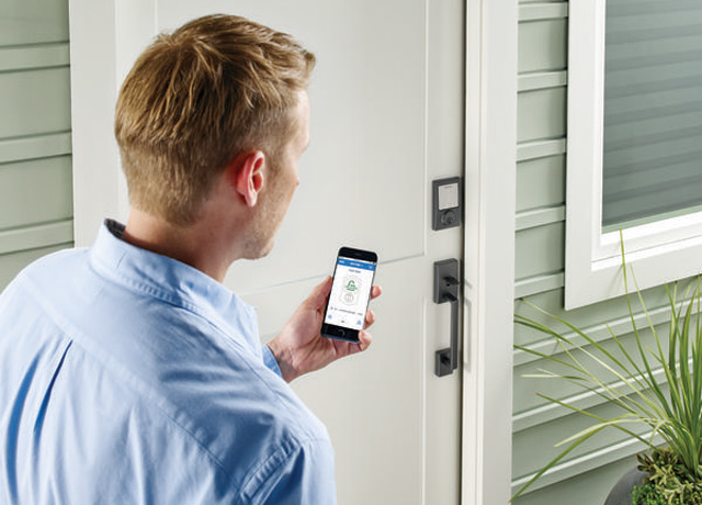 Schlage Sense App and Deadbolt in Action