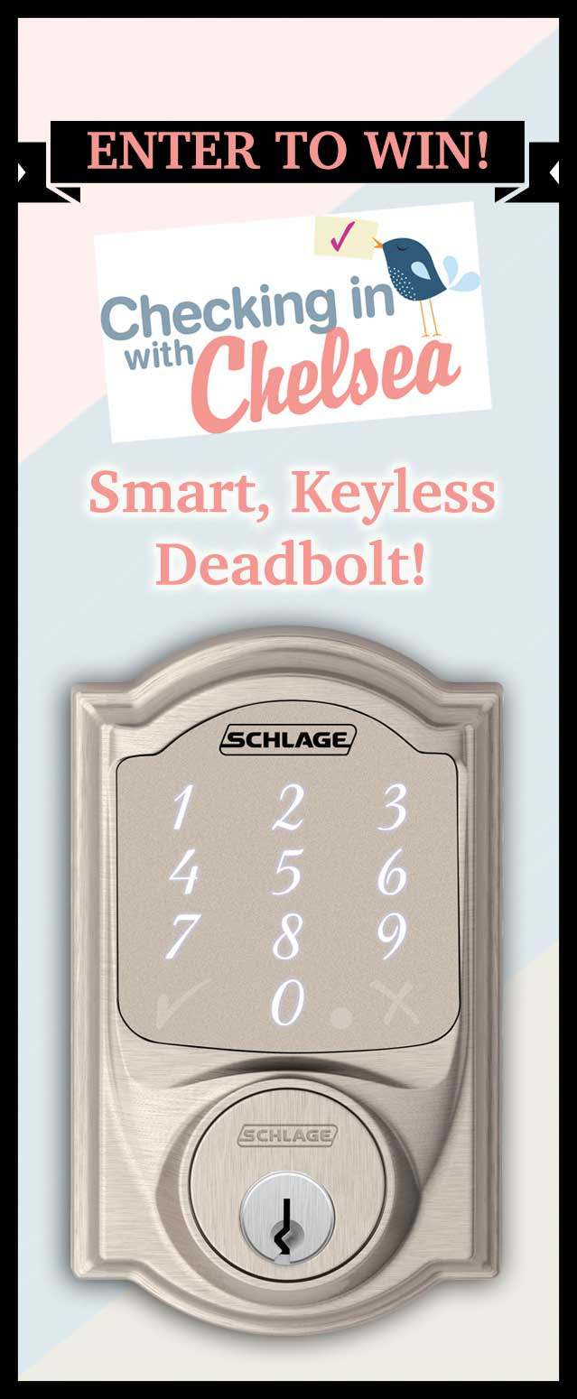 Schlage Sense Keypad Deadbolt Giveaway Checking In With