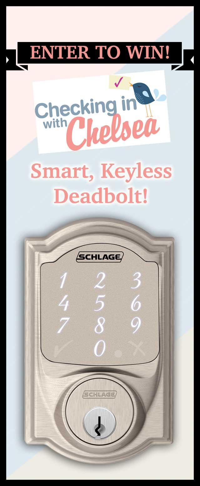 Schlage Sense Deadbolt Giveaway Pin