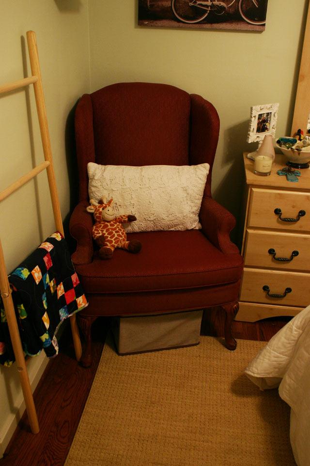 Armchair in Corner of Guest Room