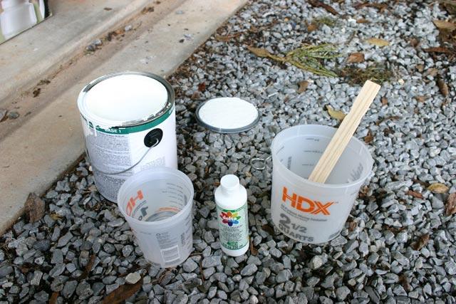 fabric medium bottle latex paint mixing pail