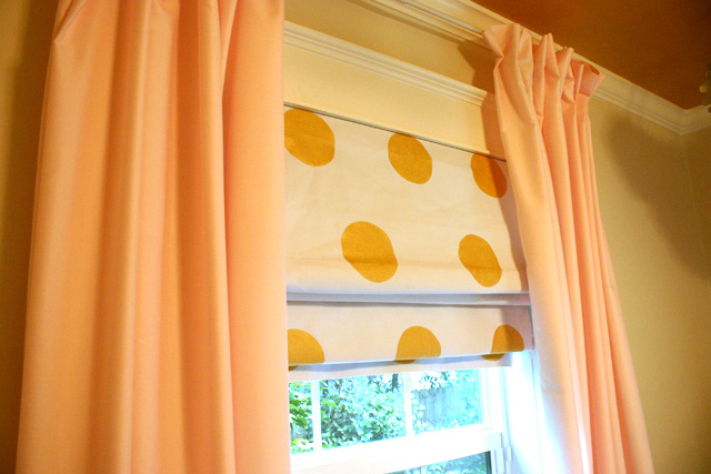 Polka Dot DIY Roman Shades