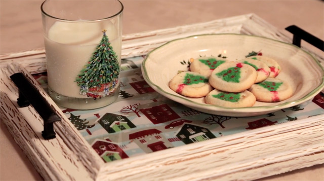 Milk and Cookies on Finished Tray