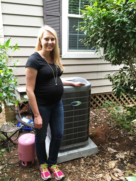 carrier heat pump installed