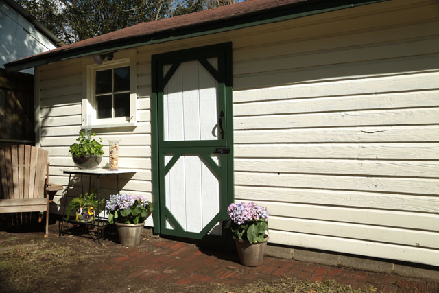 Closed Dutch-Style Shed Door