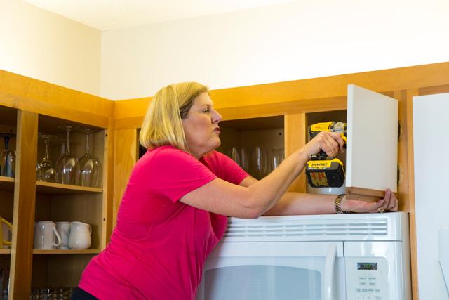 Condo Mom Removing Cabinet Doors