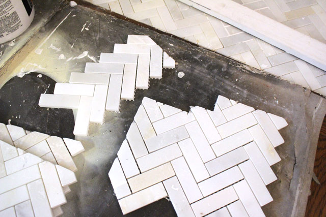 Cut Tile Pieces for Installation