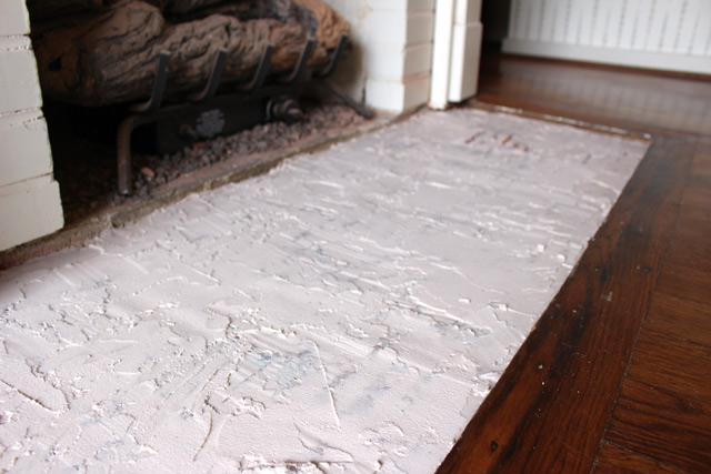 First Layer of Floor Patch After Drying
