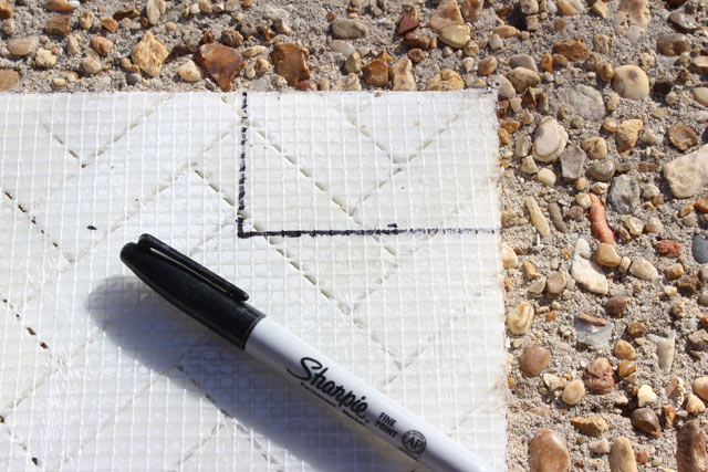 Marking Underside of Tile for Cutting