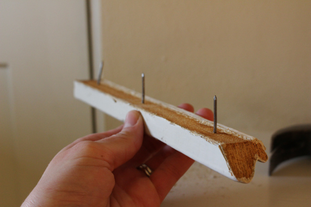 Trim Molding with Nails in Tact