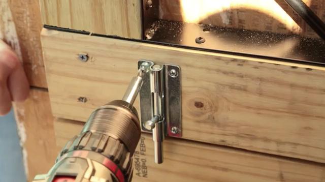 Attaching Barrel Bolt to Dutch Door