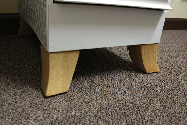 Furniture Legs on File Cabinet