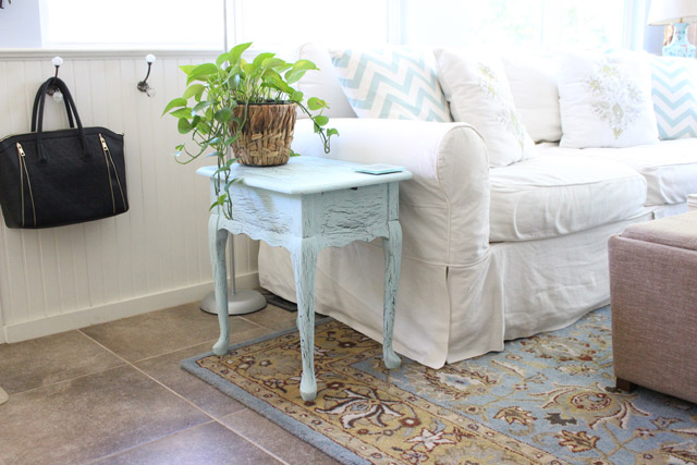 Original End Table in Sunroom