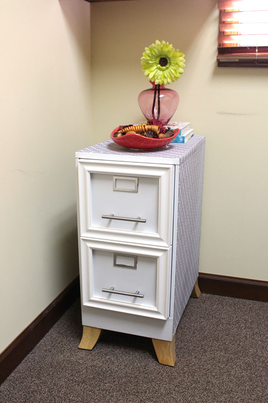 DIY File Cabinet Into Accent Table Checking In With Chelsea