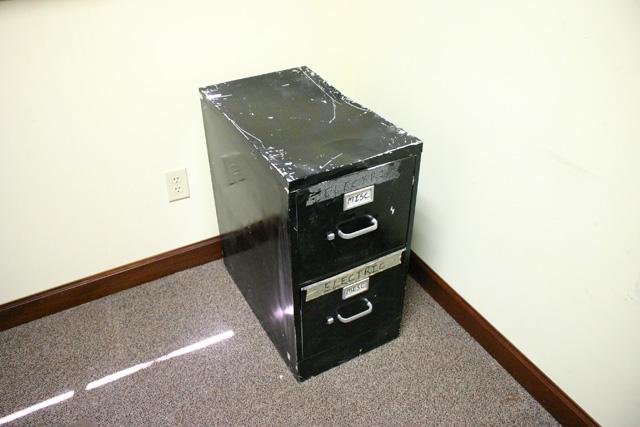 Black Metal File Cabinet Before Makeover