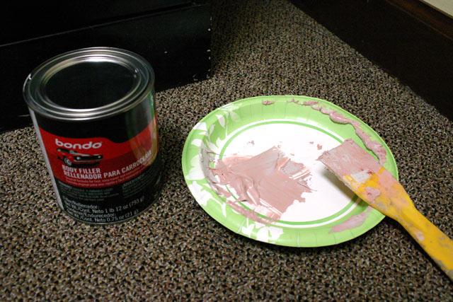 Bondo Mixed on Paper Plate