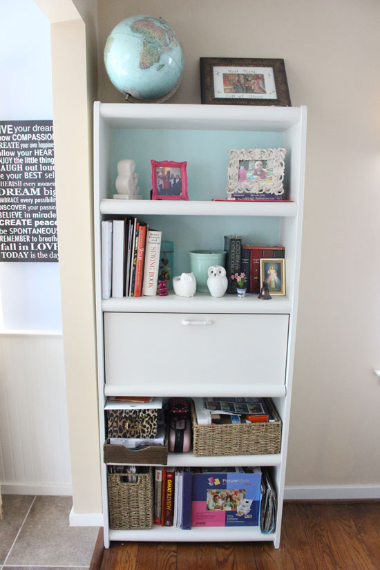 Bookcase Before Updating Molding