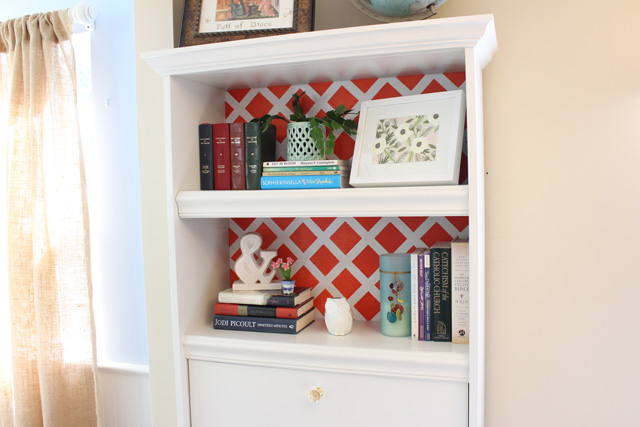 Bookshelf with Updated Molding Complete