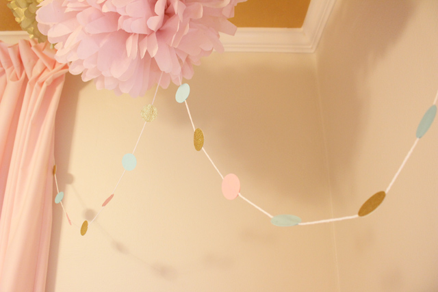 Circle Garland Hanging from Ceiling