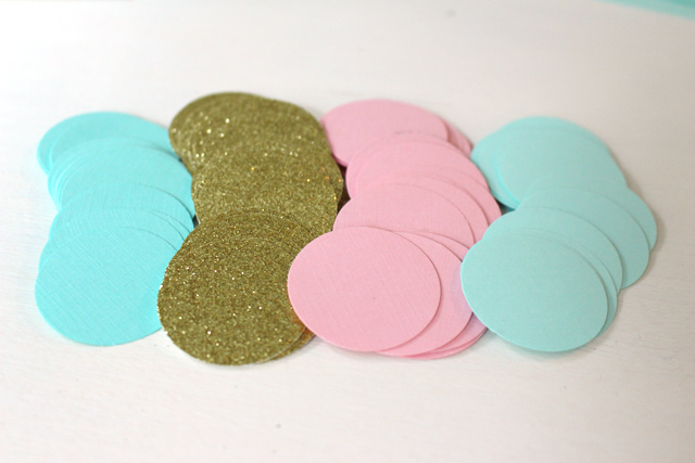Colored Circles Punched for Garland