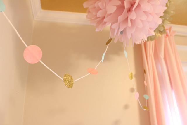 DIY Pink, Green, and Gold Garland