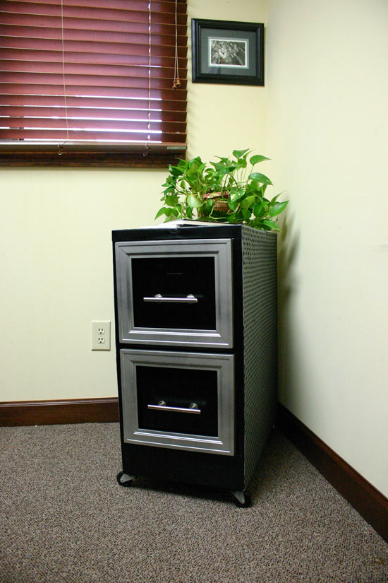 File Cabinet Makeover for Male Office