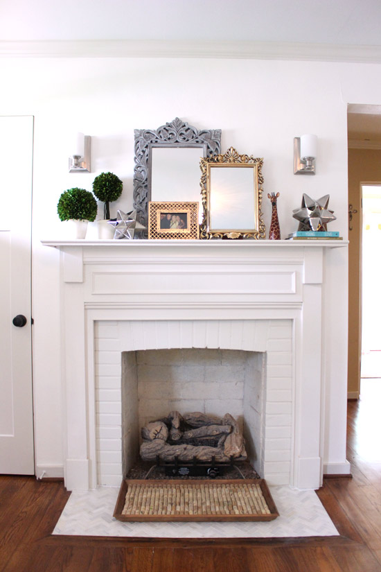 Fireplace with New Sconces