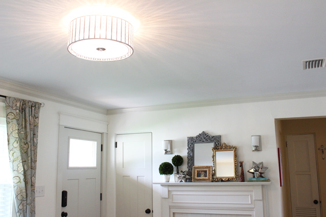 Flush Mount Fixture Installed in Ceiling