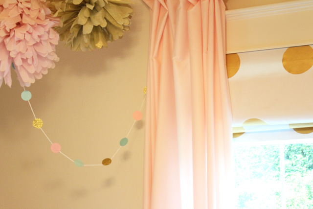 Garland Hanging in Place Above Crib