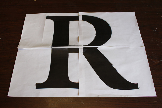 Giant R Letter Template