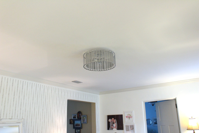 Installed Fixture Before Bulbs or Crystals