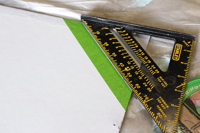 Using Speed Square to Tape Lines