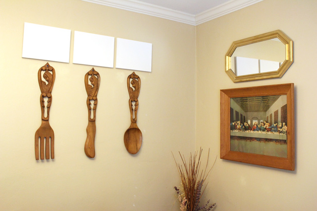 Hanging Art & Utensils in Dining Room | Checking In With Chelsea