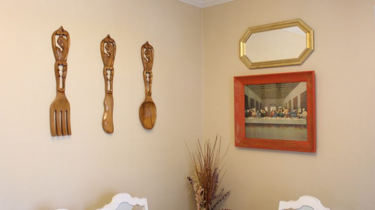 Hanging Art Utensils In Dining Room Checking In With Chelsea
