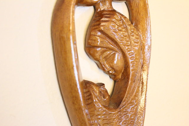 Detail on Top of Wooden Utensils