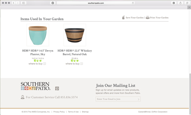 shopping list of planters online designer