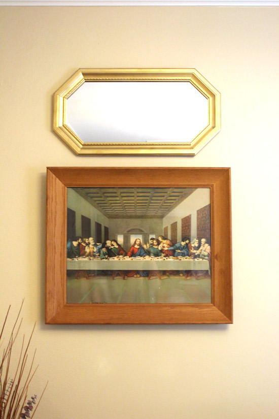 Last Supper Frame And Gold Mirror