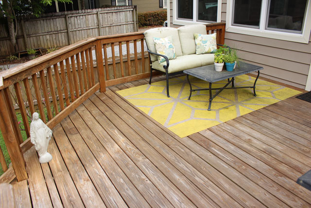 Outdoor Living Space on wooden deck
