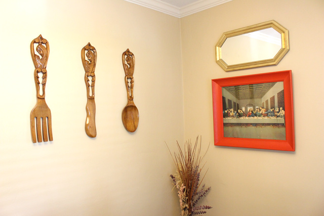 Wall Art with Poppy Red Frame